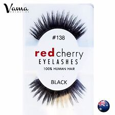 RED CHERRY Lashes #138 BRAND NEW 100% Human Hair AUS Seller
