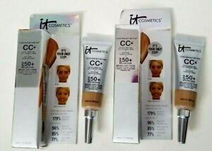 2 pk IT Cosmetics Your Skin But Better CC+ Full Coverage Cream 0.135 fl oz TAN