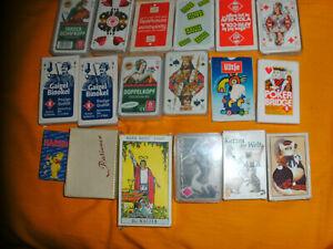 Karten Konvolut Skat Binokel Gaigl Schafkopf Poker Patience Tarot Sexy Katzen