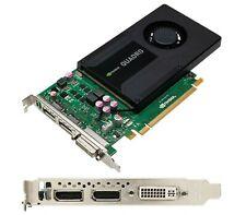 NVIDIA Quadro K2000 2GB 4K Grafikkarte 2x DisplayPort 1.2 1x DVI CUDA OpenCL CAD