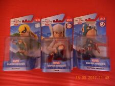 "lot Disney infinity 2.0 MARVEL ""thor,iron fist ,captain america"" NEUF"