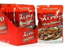 6 Count Purina 3.5 Oz Alpo Gravy Cravers With Chicken Adult Dog Food BB 3/2022