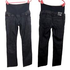 Noppies Womens Maternity Large Straight Leg Jeans Half Panel Dark Wash NWT