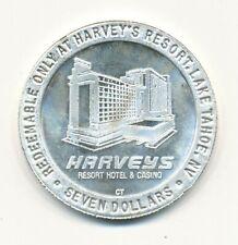 Silbermünze 999 silver coin Harvey's Resort Lake Tahoe 1992 vorzüglich