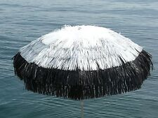 Maffei Parasol Tulum White Silver Black Art.7 Raffia d.200 cm Made in Italy