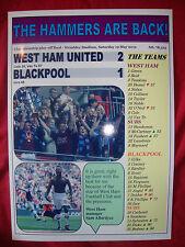 West Ham United 2 Blackpool 1 - 2012 play-off final - souvenir print