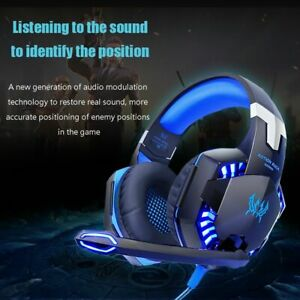 Gaming Headphones Deep Bass Stereo Casque With Microphone For Ps4 New Xbox PC