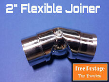 "FLEXIBLE JOINER 316 STAINLESS STEEL TUBE CONNECTOR 50.8mm FITTING 2"" HANDRAIL"