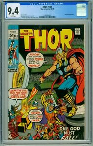 THOR #181 CGC NM 9.4 NEAL ADAMS ART MEPHISTO WHITE PAGES COMIC 1970