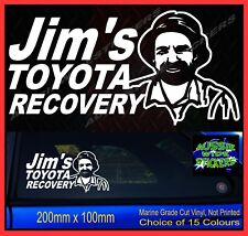 Jims RECOVERY PATROL stickers accessories Ute 4x4 MX Funny decal 200mm