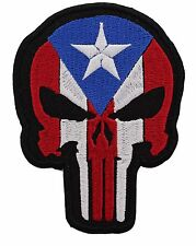 PUERTO RICAN PUNISHER EMBROIDERED PATCH