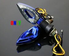 Blue Motorcycle LED Turn Signal Indicator Blinker Lights For Suzuki Street Bikes