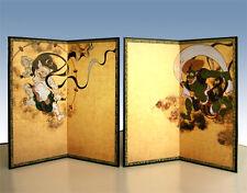 Byobu panel Fujin Raijin folding screen Tawaraya Sotatsu Japanese interior #2