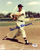 Mickey Vernon autographed signed 8x10 photo MLB Washington Senators PSA COA