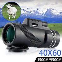 High Power 40X60 Portable HD OPTICS BAK4 Prism Night Vision Monocular Telescope