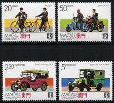 Macau Macao1988 Transport Fahrräder Motorrad Auto Lastwagen 596-99 MNH