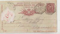 ITALIA 1893 INTERO POSTALE DA LIVORNO PER AGNANO PISANO