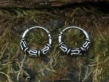 Celtic Hoop Earrings Adornment 3 925 Sterling Silver Ø 10mm Bali Hoop Earrings