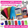 Travel Wallet Ticket Holder with RFID Blocking Cover for Passport Credit Card N1