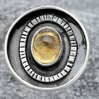 Natural Citrine Cab 925 Sterling Silver Ring s.8.5 Jewelry E520