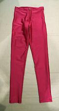 'Alto Giro' Disco Pants/Leggings, Dark Pink, Size S - Shiny Lycra Spandex