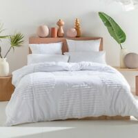 KAS Barlow Cotton Quilt Cover Set White