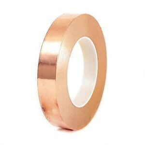 25mm Wide Copper Tape Slug, Snail Repellent, Self Adhesive Tape Free P&P