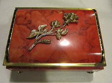 BLUE BIRD Confectionery Harry Vincent Ltd. England tin candy box w gold rose VGC