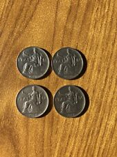 lotto 4 monete REGNO D'ITALIA BUONO 1 LIRA VITT EMANUELE III 1922 1923 1924 1928