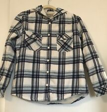 Boston Traders Men's Flannel Quilted Hooded Shirt Jacket