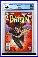 Batgirl #1 CGC Graded 9.6 DC November 2011 2nd Printing White Pages Comic Book
