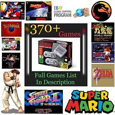 GET IT FAST!! 370+ Games Included! SNES Classic Mini Games Console SNESMini