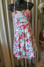 VINTAGE Style 50'S ~ Shoestring Straps ~ Floral DRESS * Size 10 *  REDUCED *