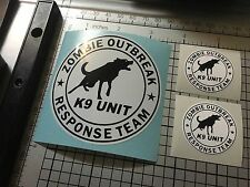 K9 Officer Zombie Outbreak Response Team Stickers