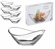 BOX OF 6 x PASABAHCE MINI GLASS CURVE APPETIZER DESSERT SERVING SNACK BOWLS