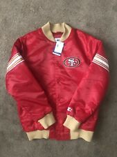49ers Starter Red Satin Jacket Brand New Sz Large NWT