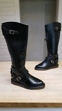 VINTAGE Dr MARTENS 16' knee HIGH MOTORCYCLE BUCKLE ZIPPER BOOTS MADE IN ENGLAND
