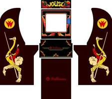 Arcade1up Arcade Cabinet Graphic Decal Complete Kits -Joust