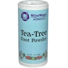 NEW WISEWAYS HERBALS LLC TEA TREE FOOT POWDER HEALING TREATMENT TALC-FREE CARE