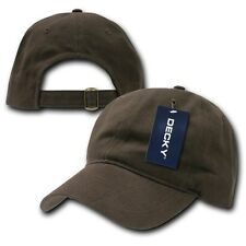 Brown Low Crown Brushed Plain Solid Blank Golf Baseball Ball Cap Caps Hat Hats