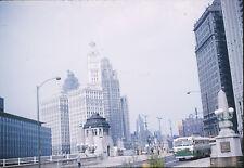 1960 Heald Square Chicago Illinois - CTA Bus - Vintage 35mm Kodachrome Slide