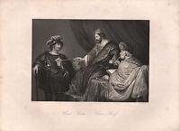 1850 Estampado ~ URIA'S Letra David & Uriah ~ Ferdinand Bol