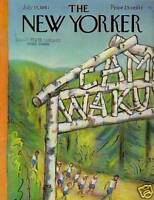 1961 New Yorker July 15 - Morning walk at Summer Camp