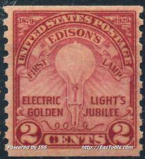 ETATS UNIS D'AMERIQUE INVENTION LAMPE ELECTRIQUE N°282a NEUF ** SANS CHARNIERE