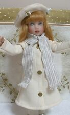 "Fits 12"" Kish Bethany Doll .. Ivory Winter Coat with Wool Scarf . D228"