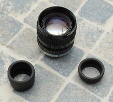 Computar TV Lens. Model V5018. 50 mm F1.8 avec 2 rallonges 10 et 20 mm