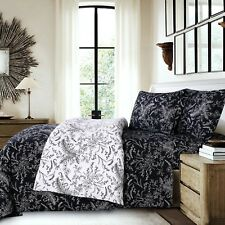 Ultra-Soft 4-Piece Deep Pocket Printed and Solid Color Sheet Set