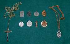 ROSARY And Catholic Medals Lot- Ten Pieces In Total Free Shipping  Lot A