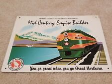 """VINTAGE ANTIQUE Style Metal Sign Great Northern Railway 24/"""" Round"""