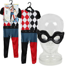 DC SUPER HERO GIRLS PRINCESS HARLEY QUINN Child Outfit Costume w Mask Small 4-6
